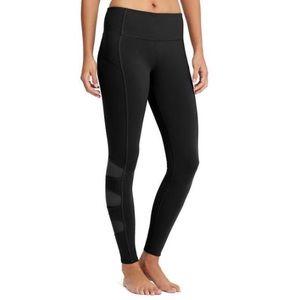 Athleta High Rise Mesh Tights Black XL leggings